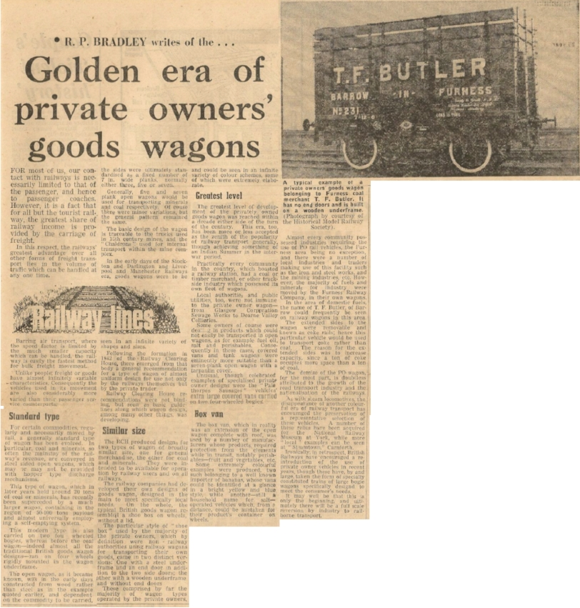 Golden Era of Private Owner Goods Wagons