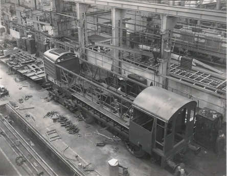 English Electric's GT3 under construction at Vulcan Foundry