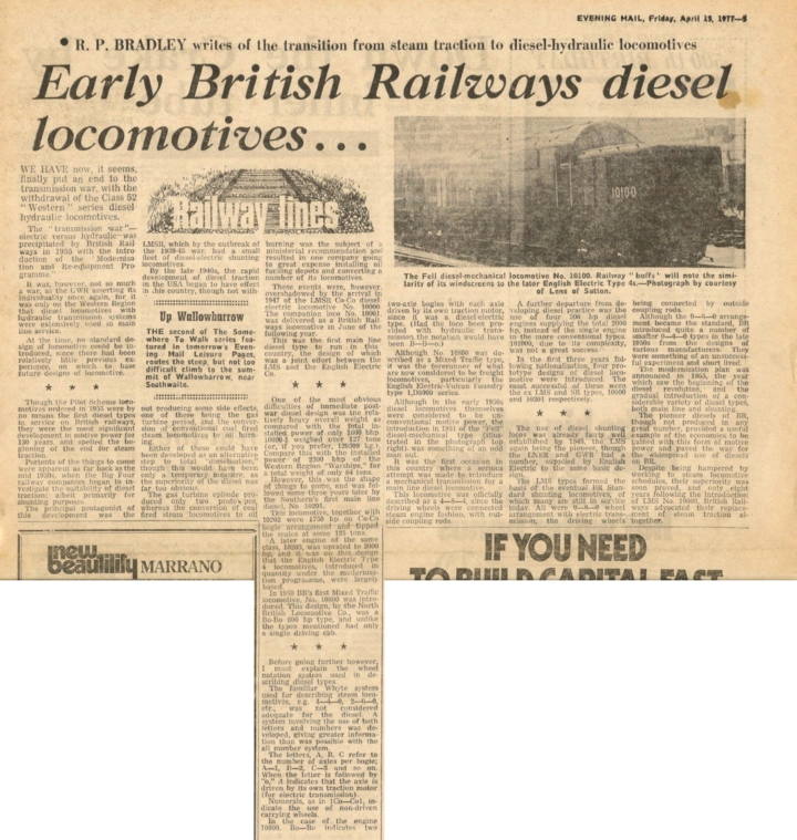 Early British Railways Diesel Locomotives