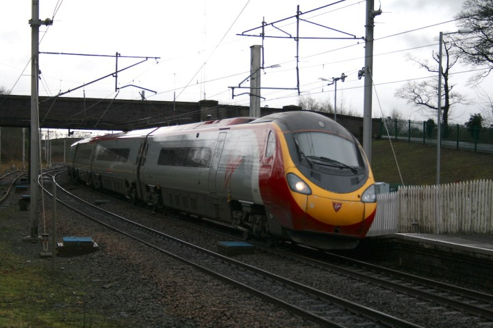 Virgin Pendolino at Oxenholme 2014