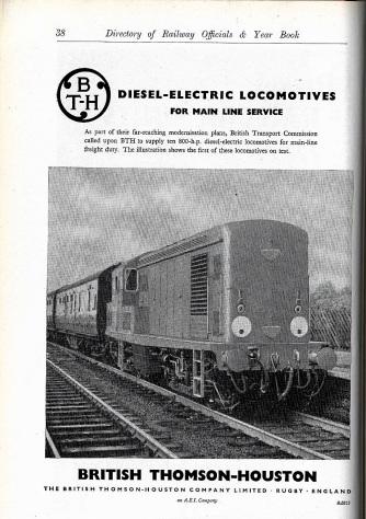 BTH Advert 1958