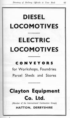 Clayton Equipment Co Advert 1958