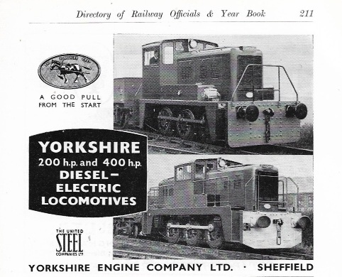 Yorkshire Engine Co Advert 1958