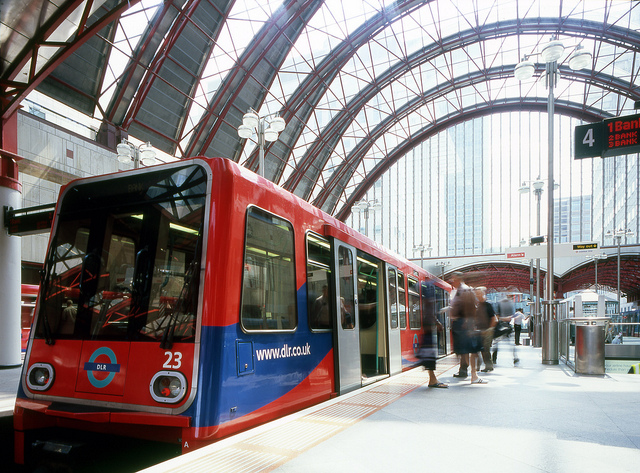 DLR at Canary Wharf Station