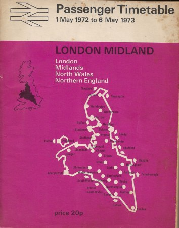 1972 Timetable cover