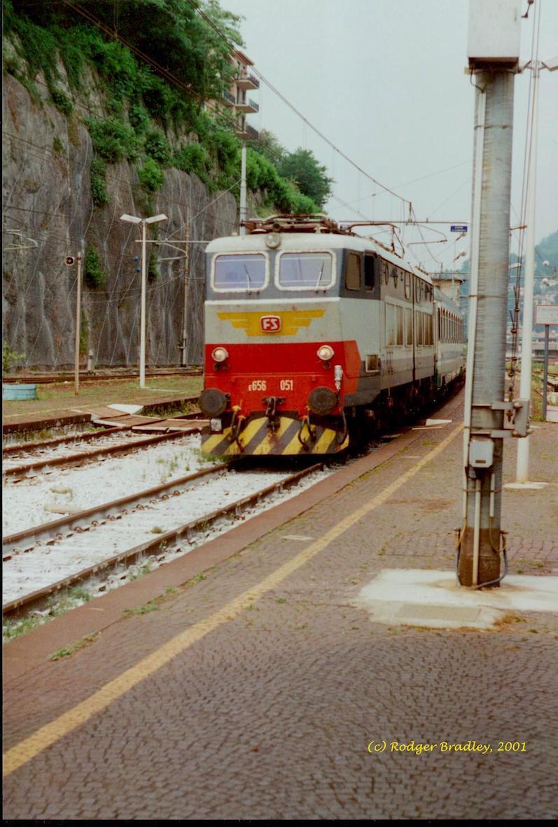 FS Class E656_No 051 at Como S. Giovanni_June 2001 copy