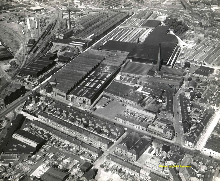 Dick Kerr & English Electric Works, Strand Road, Preston. Aerial Image, May 1951 copy