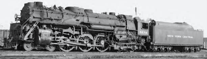 J-1d No. 5276 at East Buffalo in October 1952