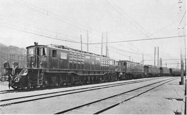 Group of express passenger locos Japan