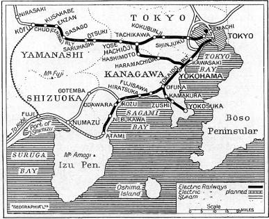 Japan Electrified map