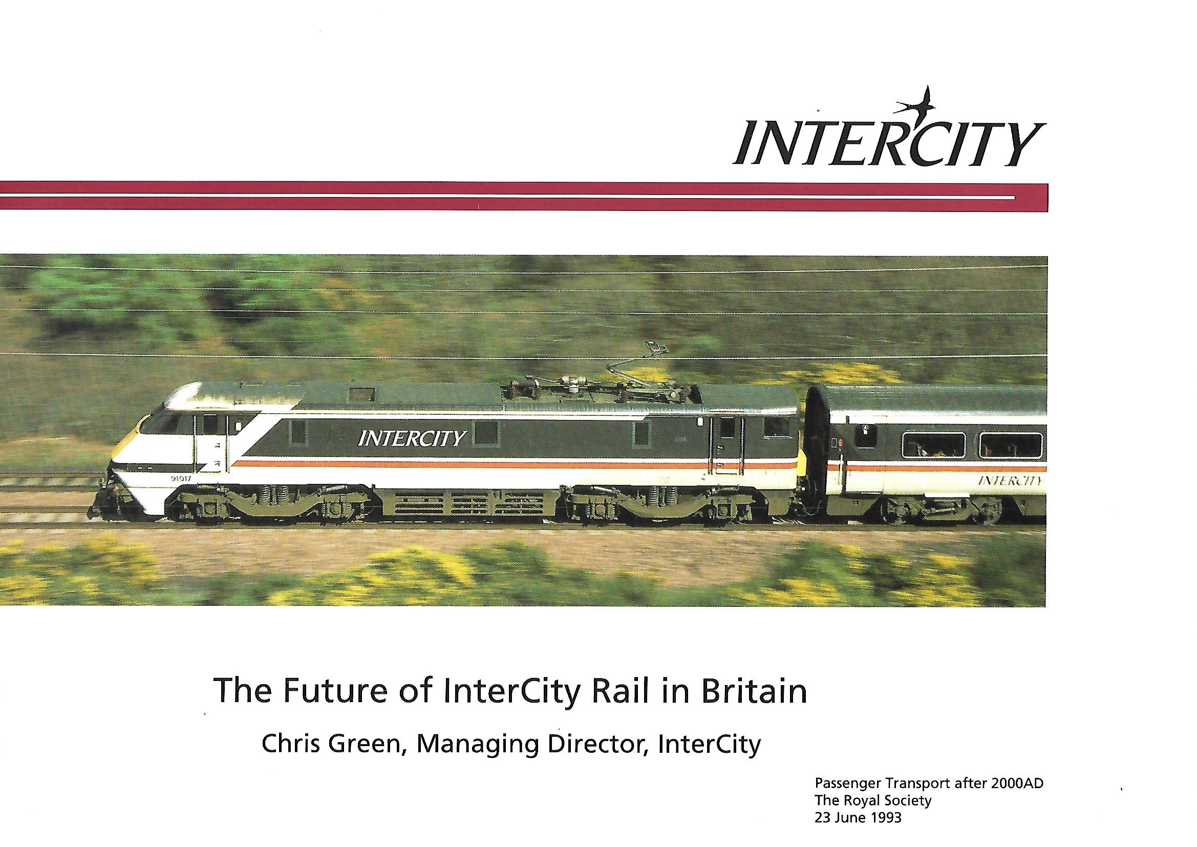 Future of InterCity Rail cover