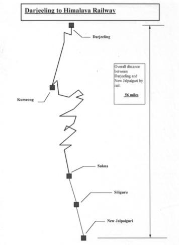 Darjeeling Map 1