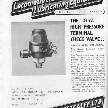 Davies & Metcalfe Advert - 1952 Rly Gazette copy