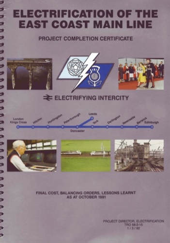 BR's final certificate of completion of the ECML, published in 1992