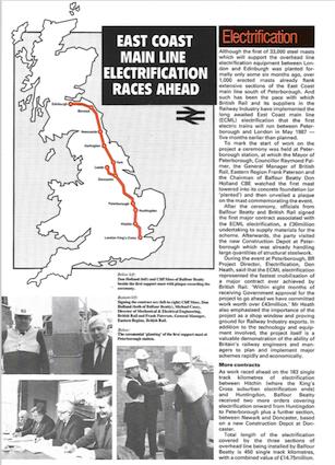 Summary of progress on the ECML in Railpower No. 47 - courtesy of the RIA