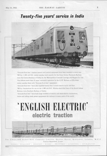 English Elec Advert - 1952 Rly Gazette copy