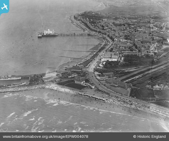 Morecambe Promenade from above 1920 EPW004078