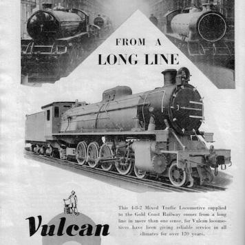 Vulcan Foundry Advert - 1952 Rly Gazette copy