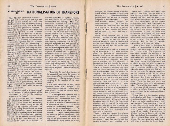Walter Monslow Article - Feb 1947 ASLE&F
