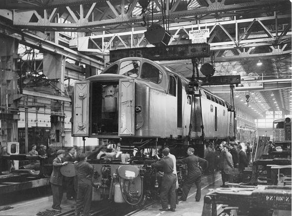 "Vulcan Foundry - ""wheeling"" a Class 40"