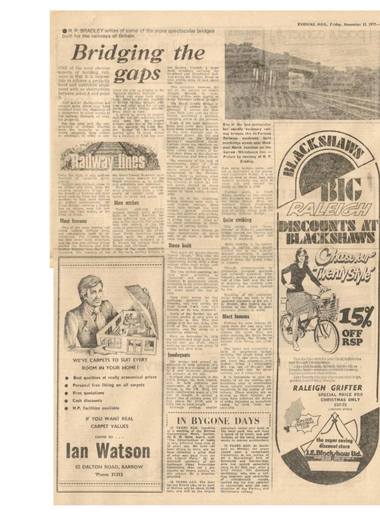 NW Evening Mail - NOV 11 1977 BRIDGING THE GAPS