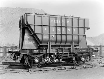 A 'Presflo' cement wagon built at Shildon in the 1950s – once a common sight on the rail network. Photo Courtesy: British Rail Records Office /Science Museum Collection https://collection.sciencemuseum.org.uk/objects/co423874
