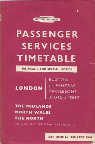 1961 timetable cover