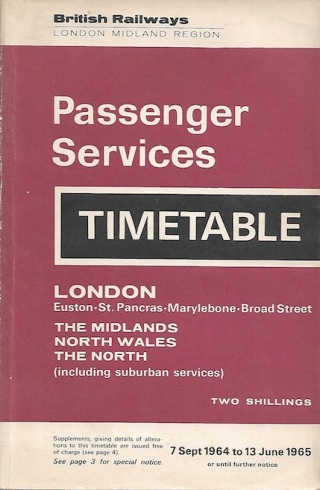 1964 timetable cover