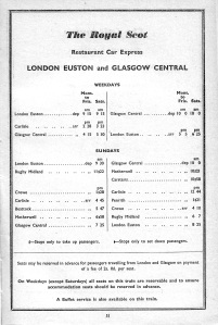 Named Trains from 1961 2