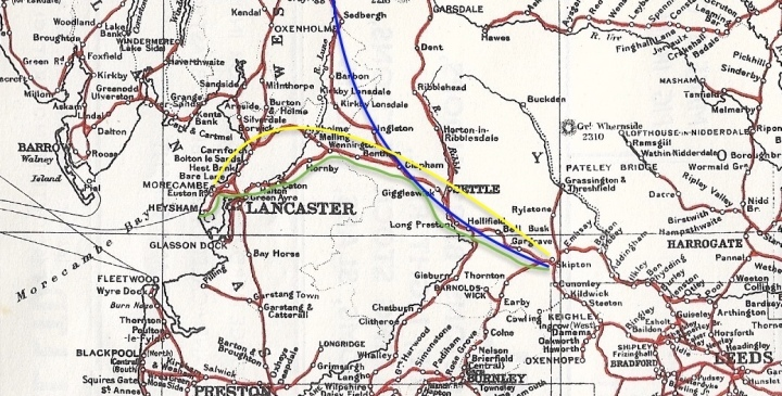 rylands railway map 1950s extract