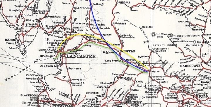 rylands railway map 1950s extract