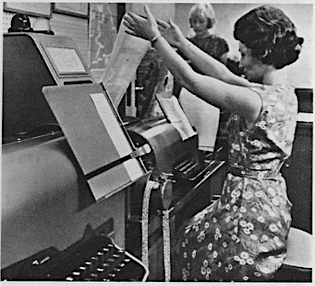 Teleprinter operator