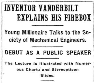 Vanderbilt - NY Times header 1901