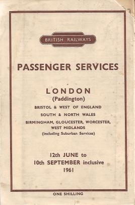 BR Western Region Named Trains 1961 17