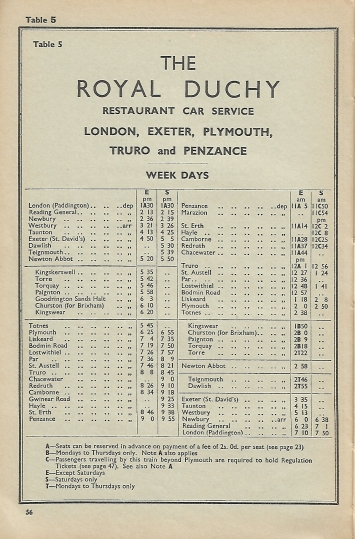 Royal Duchy Named Train 1961 4