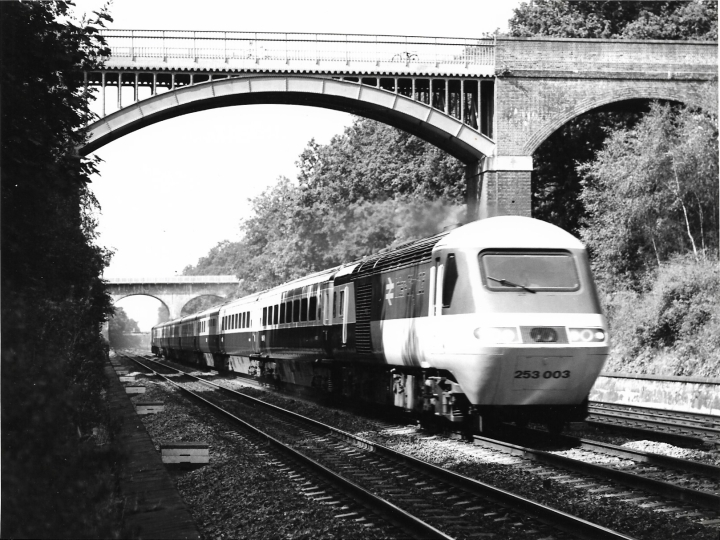 HST in Sonning Cutting