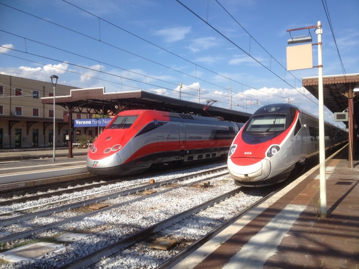 Frecciarossa and SBB ETR 610 at Verona - August 2017