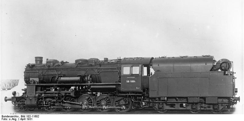 Dampflokomotive 58 1894, BR 58