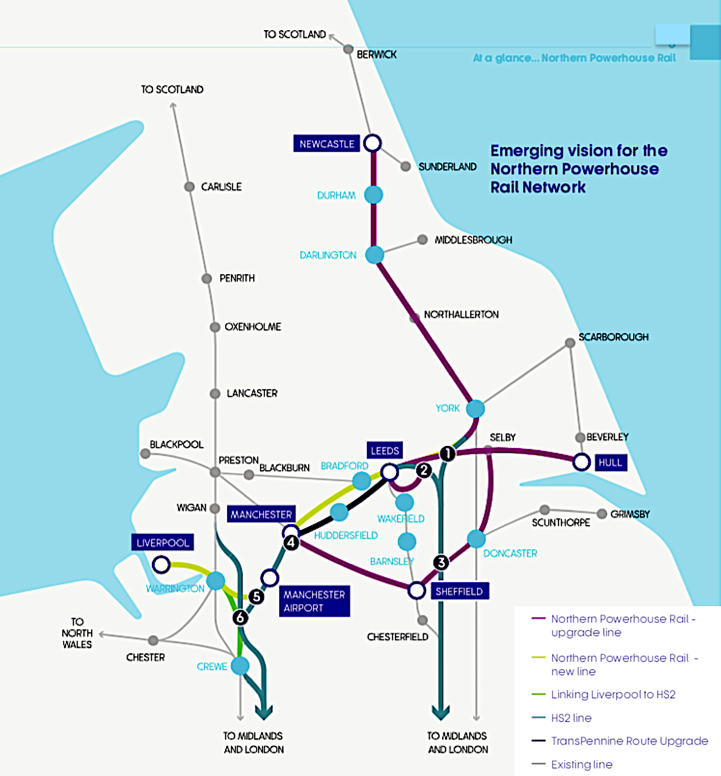 Northern Powerhouse Rail Map