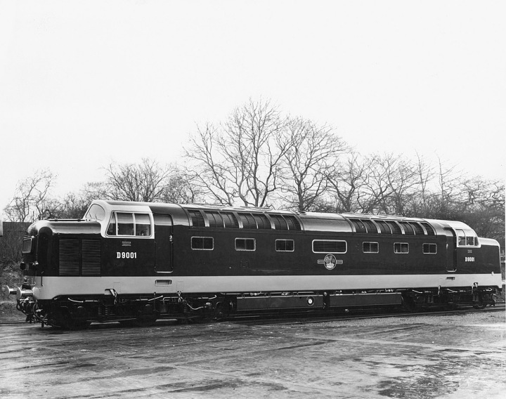 Deltic D9001 - Vulcan Works Photo March 1961