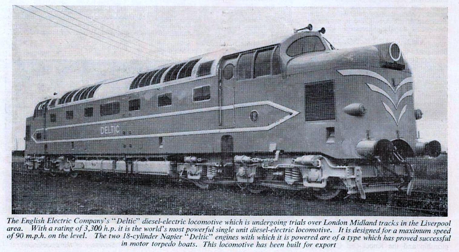 Deltic Prototype from Dec 1955 BR LM Region Magazine
