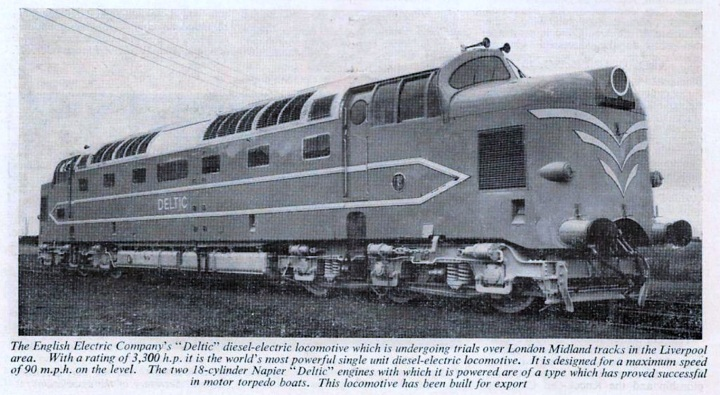 Deltic Prototype from Dec 1955 BR LM Region Magazine