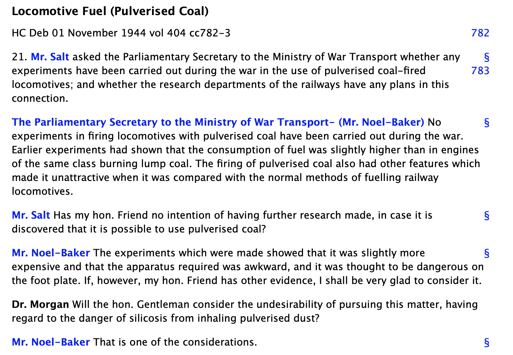 Locomotive Fuel - Pulverised Coal