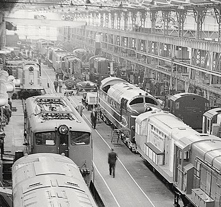 Original Deltic in Preston Works