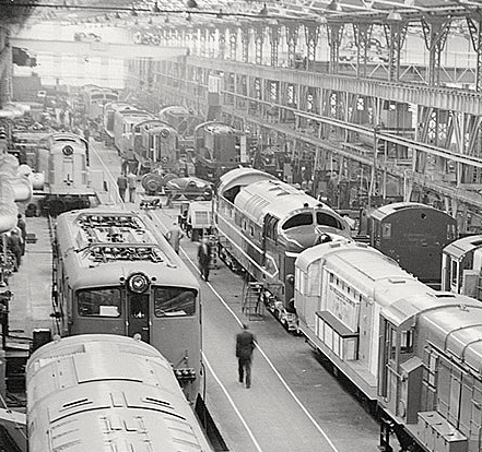 Original Deltic in Preston Works