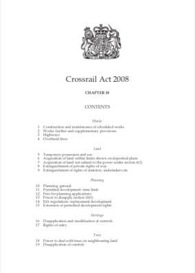 Crossrail Act 2008 Cover