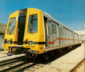 The original emu's for the Kowloon-Canton Railway, built by Metro-Cammell, with GEC Traction power equipment. Initial tests were carried out on the Tyne & Wear Metro in the UK, before being shipped out to Hong Kong. Photo: RPB/GEC Traction Collection