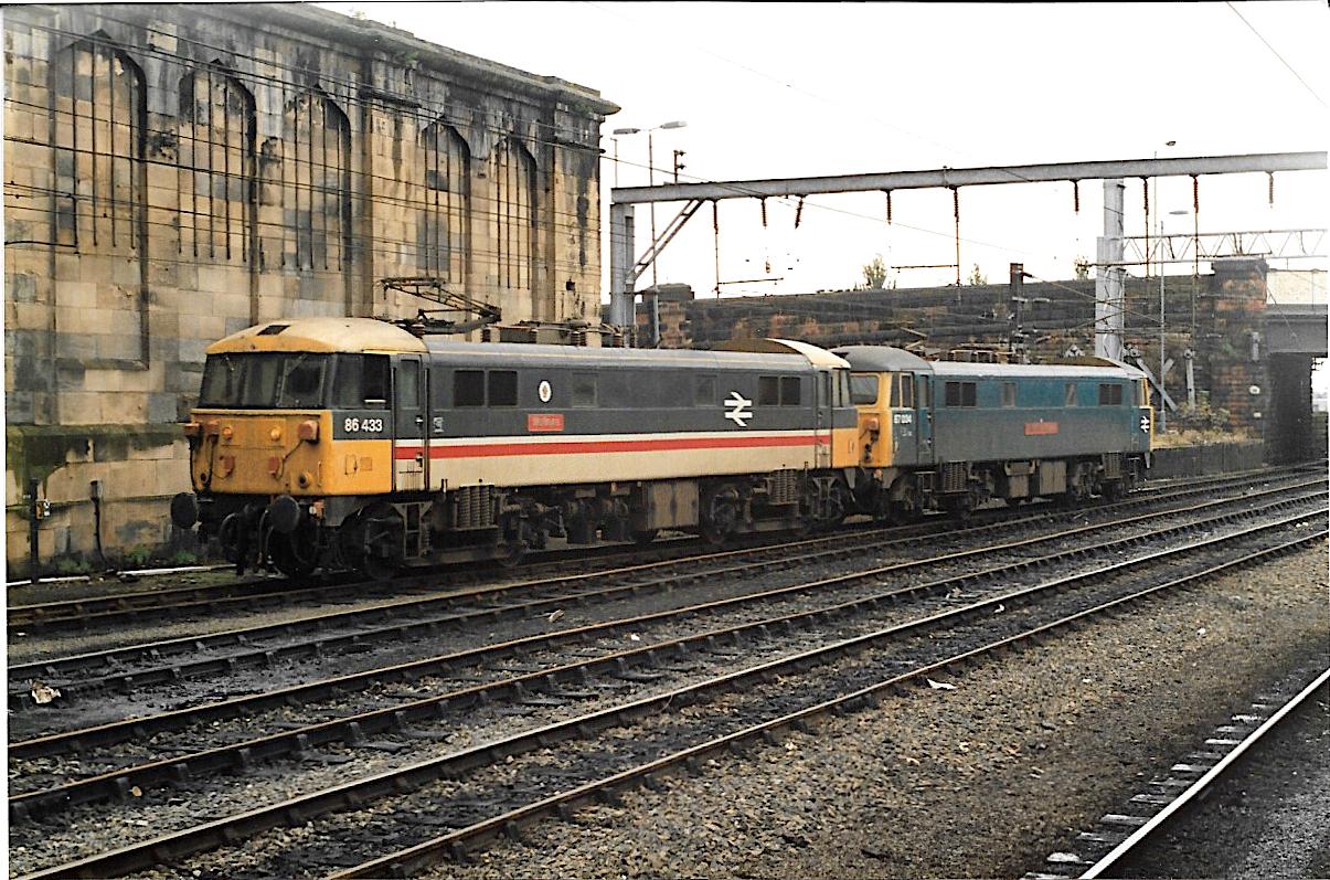 86433 and 87034 at Carlisle 1980s