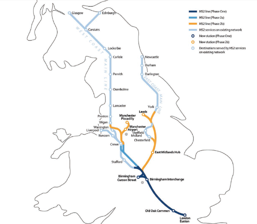 HS2 route map