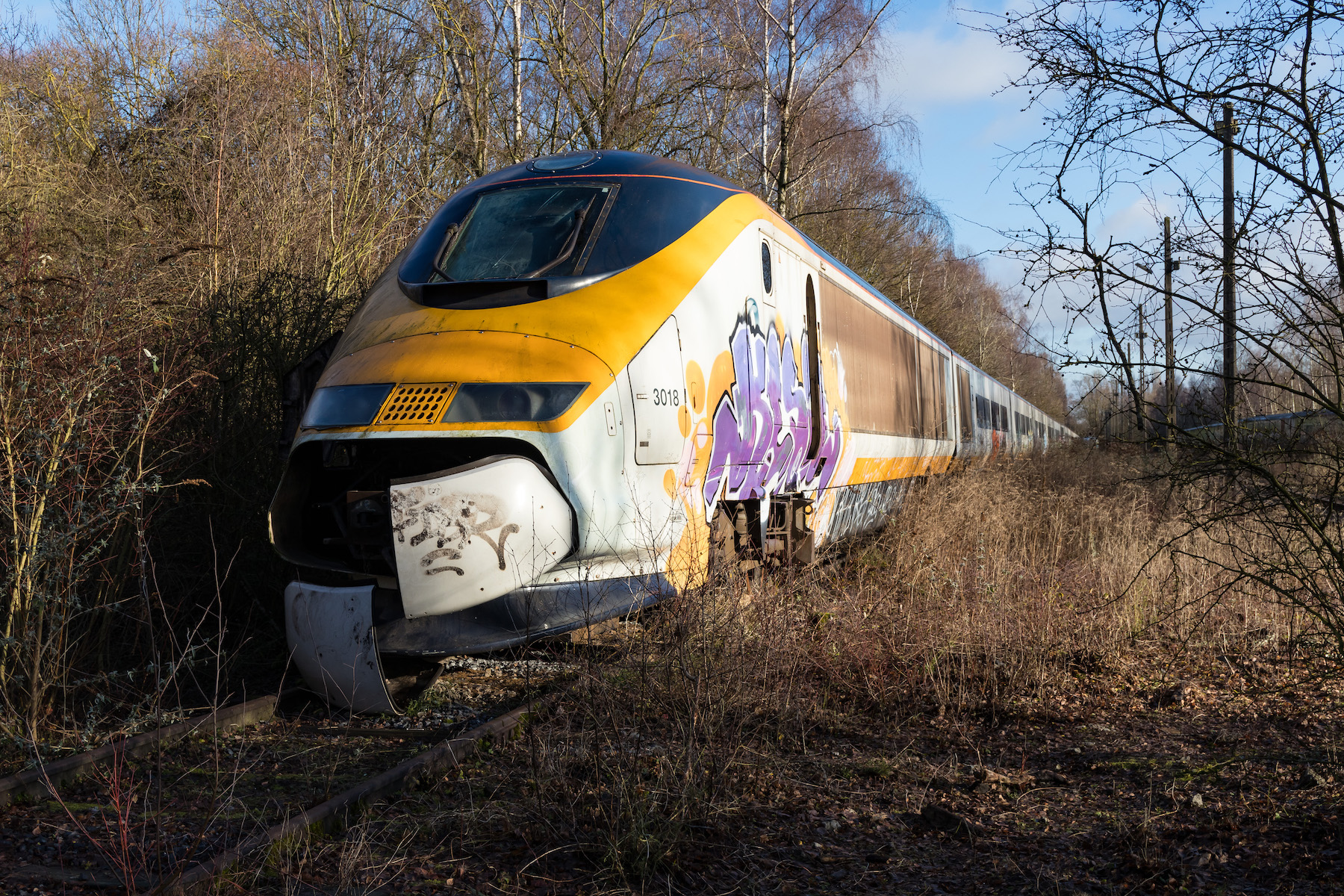 Abandoned Eurostar 3017:3018 near Valenciennes